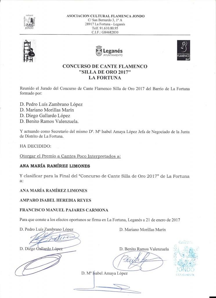 ACTA FINALISTAS SILLA DE ORO 2017