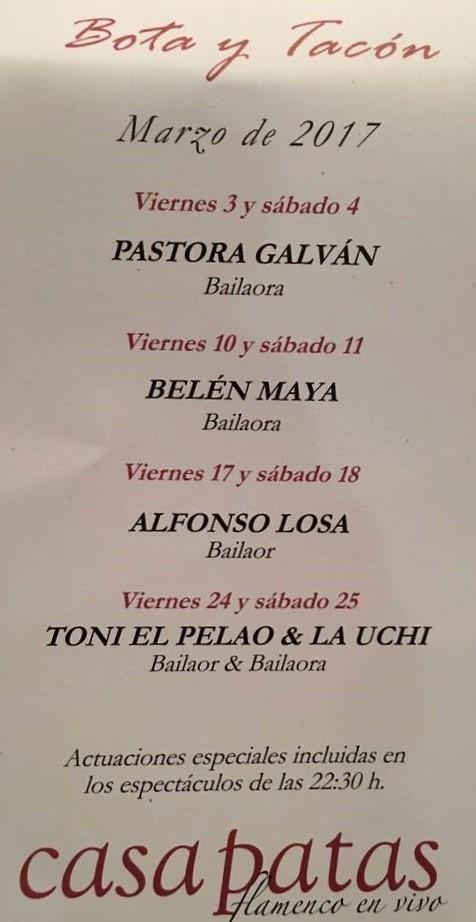 Ases del flamenco, marzo 17